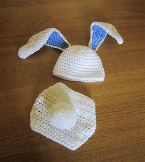 baby boy bunny set hat  nappy diaper cover