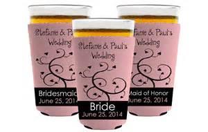 koozies for weddings custom wedding koozies