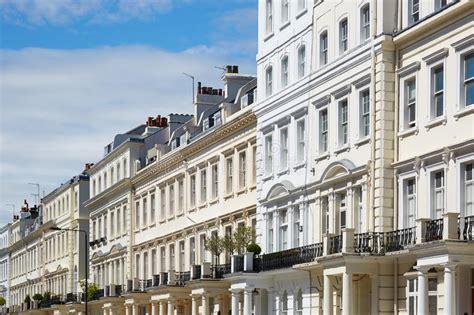 Case Bianche A Londra, Architettura Inglese Immagine Stock