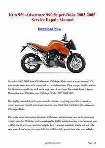 Download Ktm 950-adventure 990-super-duke 2003-2005 Service Repair Manual By Fu Juan
