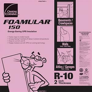 Owens Corning FOAMULAR 150 2 in x 4 ft x 8 ft R-10