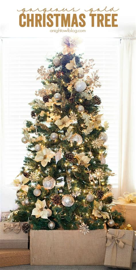 gorgeous gold christmas tree  night owl blog