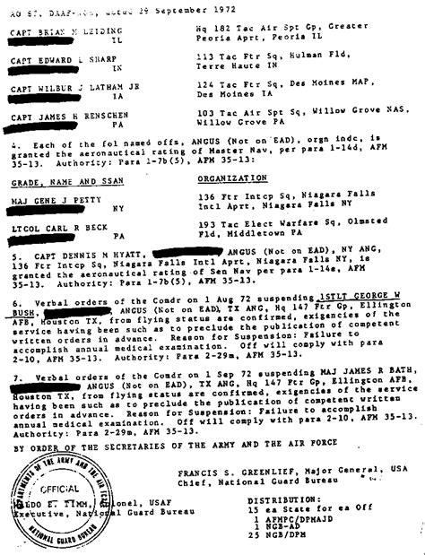 George H Bush Resume by I Left The 111th Quot Chagne Unit Quot On May 24 1972