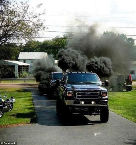 black smoke belching pick ups built  anti