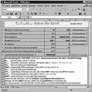 Excel Betrag Berechnen : finanzmathematik mit elektronischen hilfsmitteln ~ Themetempest.com Abrechnung