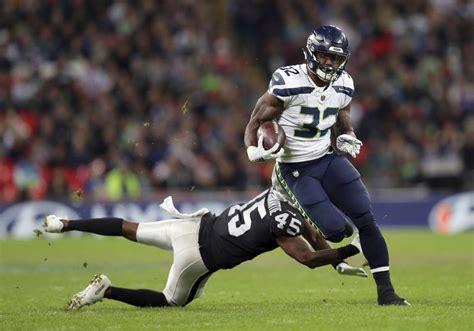 seahawks sack derek carr  times  london romp