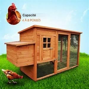 Nid Pour Poulailler : poulailler en bois 4 8 poules lbh jardin lch 6 achat ~ Premium-room.com Idées de Décoration