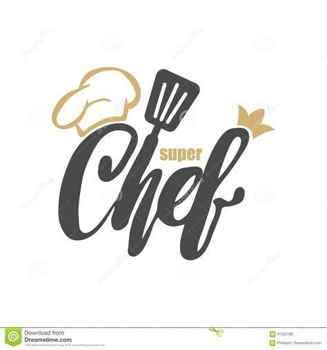 logo chef de cuisine cuisine chef logo vector illustration