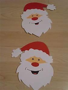 Basteln Mit Kindern Weihnachten Und Winter : fensterbild kette deko tonkarton basteln winter weihnachtsmann gesicht rot ~ Watch28wear.com Haus und Dekorationen