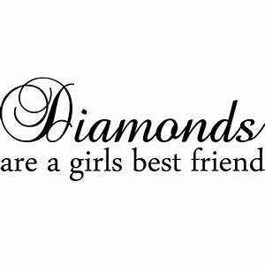 Diamonds Are A Girls Best Friend Marilyn Monroe Quote Wall ...