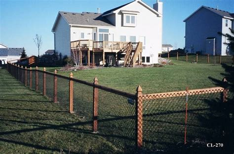 california chain link fence view examples  california