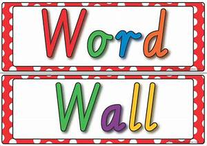 word wall display k 3 teacher resources With word wall template printable