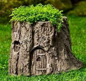 DIY Hollowed Tree Wood Planters