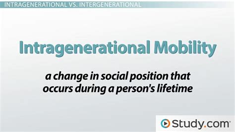 social mobility definition  types intragenerational