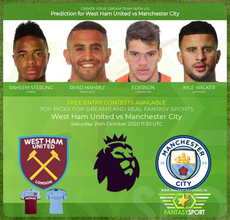 West Ham United vs Manchester City football prediction ...