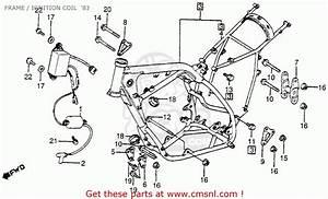 Honda Cr250r Elsinore 1983  D  Usa Frame    Ignition Coil