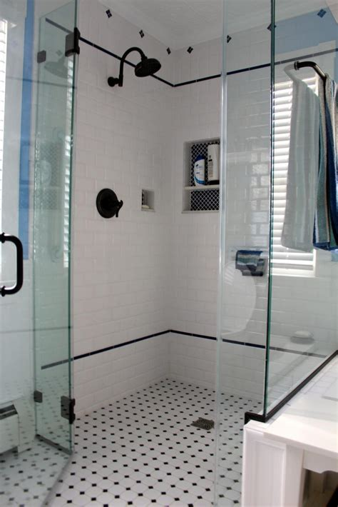 pictures  glossy subway tile   shower