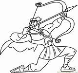 Bow Hercules Arrow Coloring Pages Printable Getcolorings Coloringpages101 sketch template