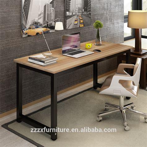 table de bureau en bois accueil mobilier bureau table ordinateur de bureau en bois plan de travail avec m 233 tal cadre mfc