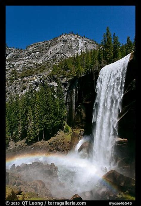 Picture Photo Vernal Fall With Rainbow Yosemite National