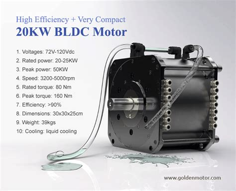hpm 20 kw liquid cooled bldc motor golden motor canada