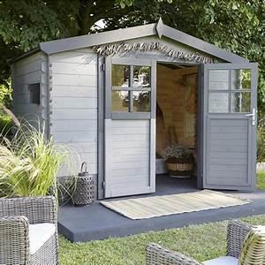 Abri De Jardin 5m2 : abri de jardin en bois soleil m p 28 mm leroy ~ Edinachiropracticcenter.com Idées de Décoration