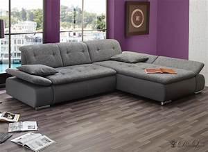 Ecksofa Mit Verstellbarer Rückenlehne : couch vildana grau 290x218 ecksofa verstellb r ckenlehne ot l o r ebay ~ Bigdaddyawards.com Haus und Dekorationen