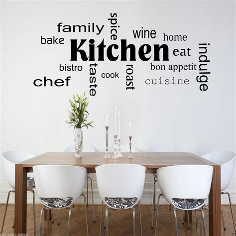 stickers cuisine design kitchen words phrases wall sticker quote decal stencil