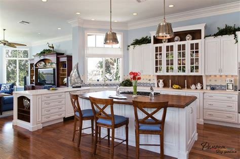country corner kitchen кухня с островком расположение дизайн и обустройство 2697