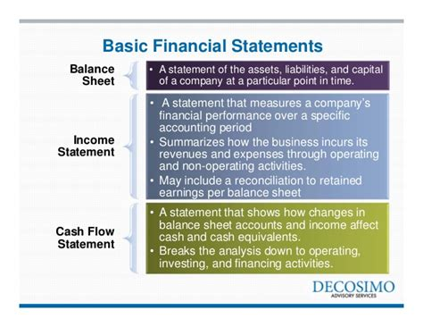 basics three financial statements by tracey booth