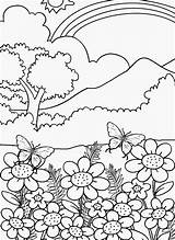 Coloring Nature Pages Adults Clipart Easy Library Clip sketch template