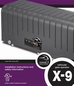 Viking Access Systems Vehicular Gate Opener Ul 325 Users