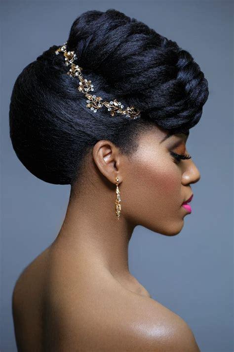 sleek wedding long hairstyles pinned  sides blackcurckers