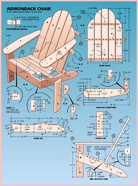diy adirondack chairs plans patterns wooden  deck bench