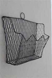old wirework wall rack letter holder vintage wire basket With wire letter holder wall