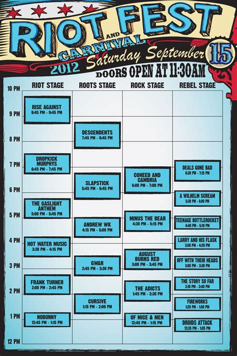 Deck The 2012 Lineup Times by Riot Set Times 9 15 9 16 Gold Coast Tickets