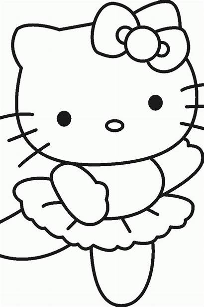 Coloring Characters Pages Kitty Hello Cartoon 1080p