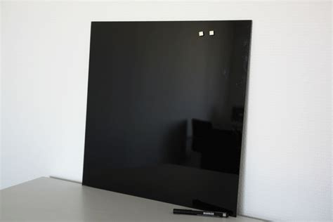 Glas Magnettafel Schwarz 45 X 45 Board Glasmagnettafel Whiteboard Pinnwand Neod