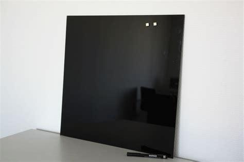 Glas Magnettafel Schwarz 45 X 45 Board Glasmagnettafel
