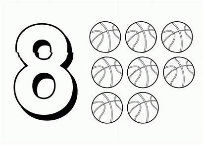 Number Coloring Pages Printable