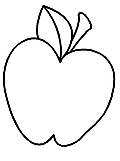 apple template free printable apple coloring pages for