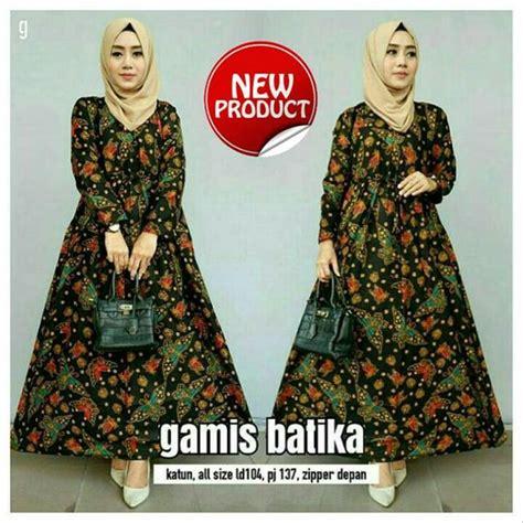 jual baju batik muslim gamis batik terbaru batik