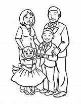 Coloring Draw Drawing Easy Pages Drawings Happy Sketch Members Clipart Cartoon Colouring Tree Coloringsky Familia Joint Sheet Parents Colors Preschool sketch template