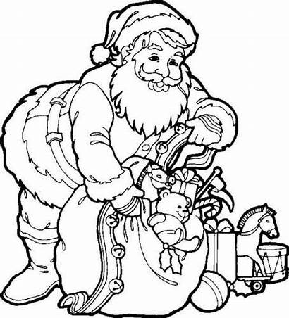 Santa Coloring Pages Christmas Printable Colouring Claus