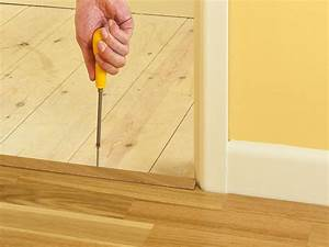 How to install click lock laminate flooring how tos diy for How to replace hardwood floor strips