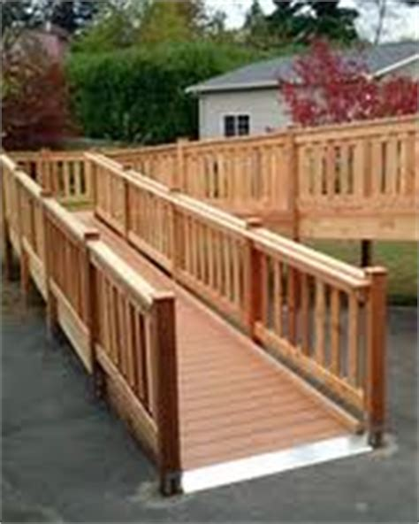 Wood Scooter And Wheelchair Ramps For Homes  Atlanta Home