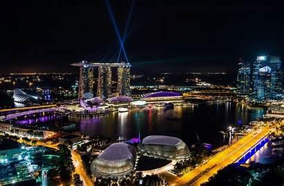 Singapore Night Marina Bay 4k Wallpapers 8k