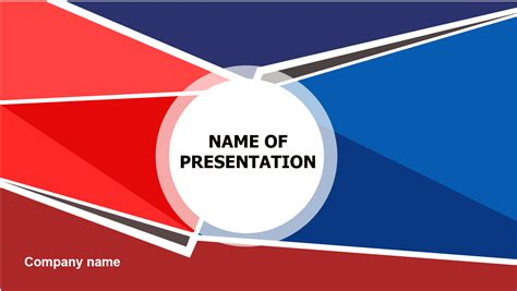 red  blue spikes powerpoint template big apple templates