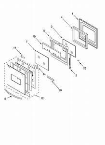 Oven Door Diagram  U0026 Parts List For Model Kems378gss0