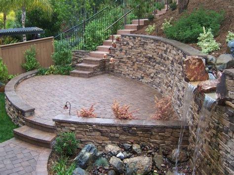 Paver Brick Wall by Paver Block Designs Paver Patios With Retaining
